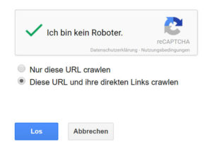 unterseiten indexieren google crawlen
