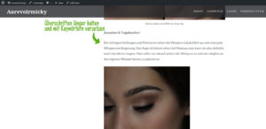 bloganalyse seo online marketing facebook marketing beauty blogger