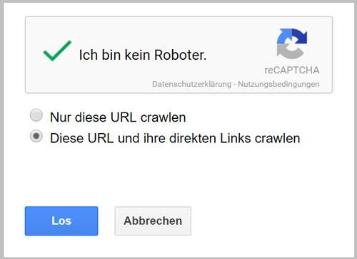 seiten indexieren google crawling